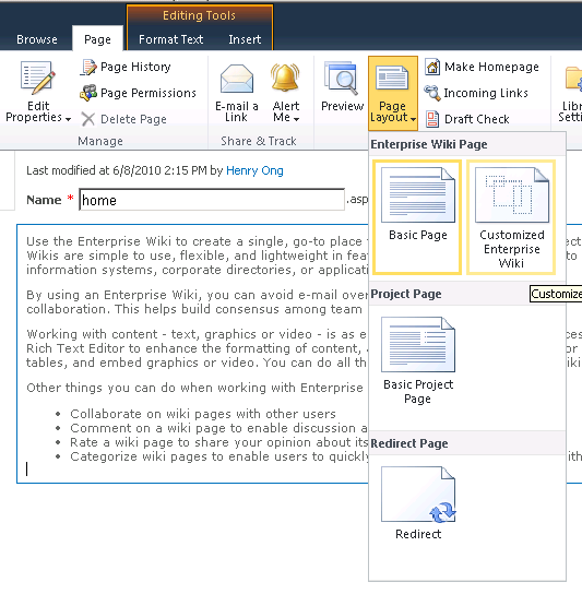 how to create custom sharepoint 2010 page layouts using